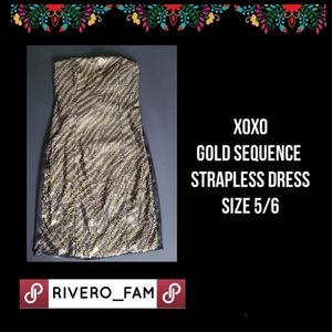 XOXO | SEQUENCE STRAPLESS DRESS